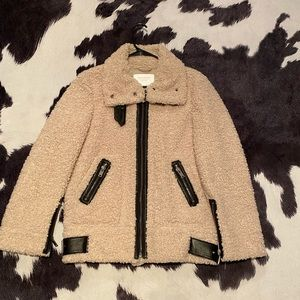 Shearling Zara coat